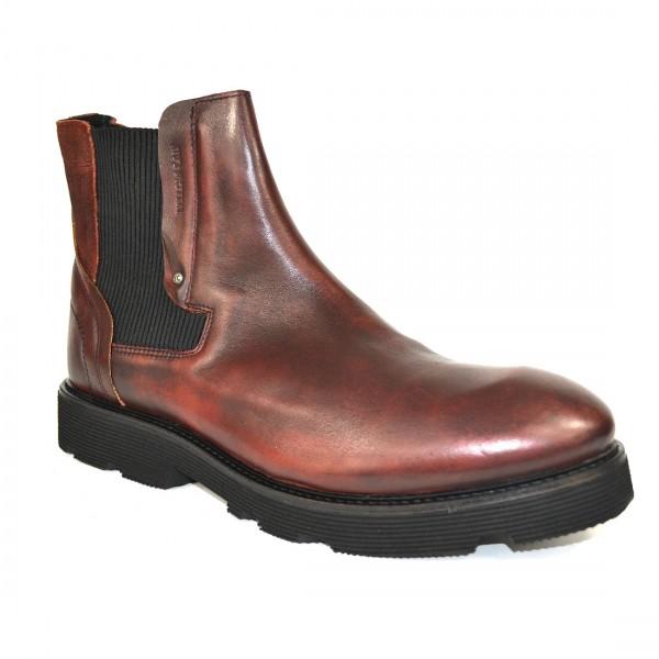 Yellow Cab Herren PISTON M Y16076 Leder Chelsea Boots Stiefel Schuh Bordeaux