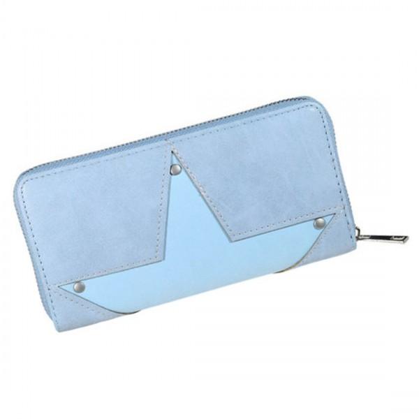 Damen Geldbörse Portmonee Brieftasche Stern Blau