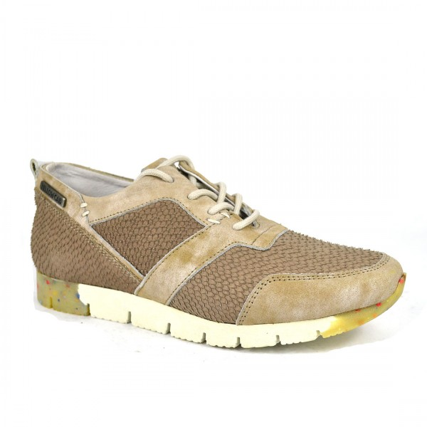 Yellow Cab Damen Sneaker TOPIC W Y22079 Leder Sneakers Schuh Taupe
