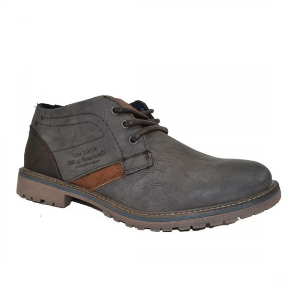 Tom Tailor Herren Schuhe 3780301 Sneaker Schuh Boots Sneakers Grau