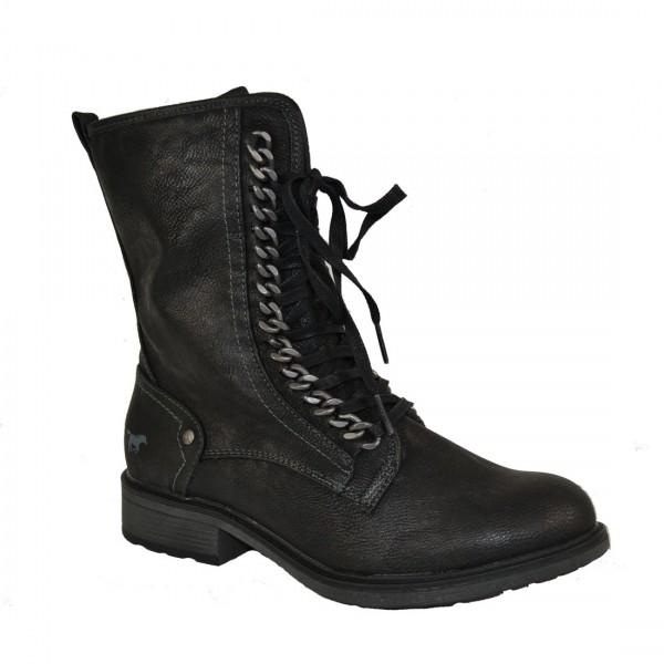 Mustang Damen Stiefel Stiefelette Schuh Schnürstiefel Antrahzit