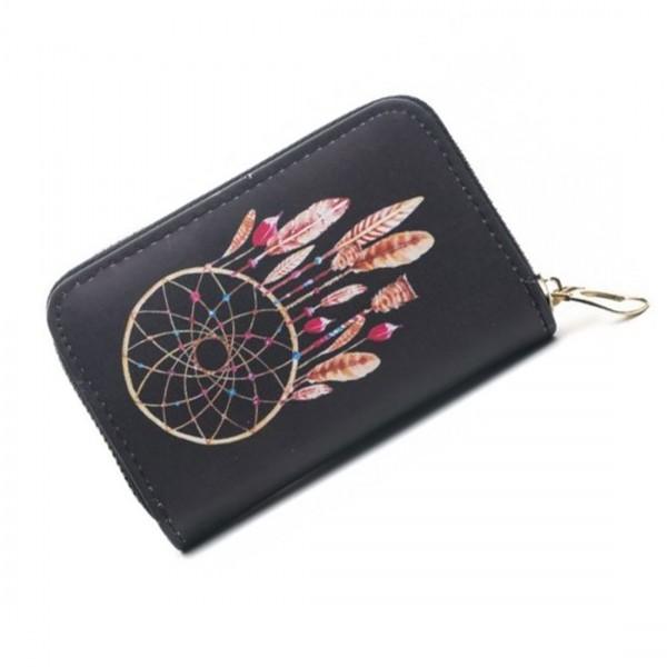 Damen Geldbörse Portmonee Brieftasche Dreamcatcher Traumfänger