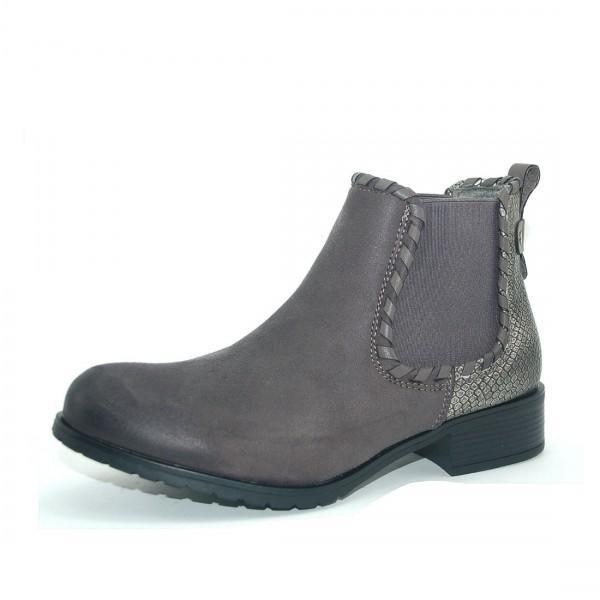 Kayla Damen Chelsea Boots Grau Schuhe leicht gefüttert