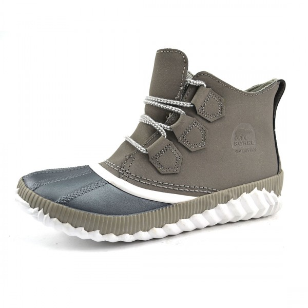 Sorel Out N About Plus Bootie Stiefel Damen Stiefeletten Leder Schuhe Grau