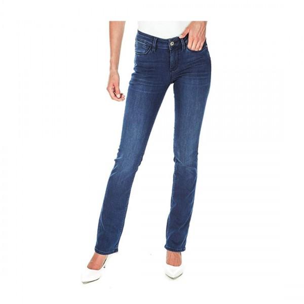 Guess Damen Jeans Zigaretten Jeans Jeancare Cigarette mid Slim Fit