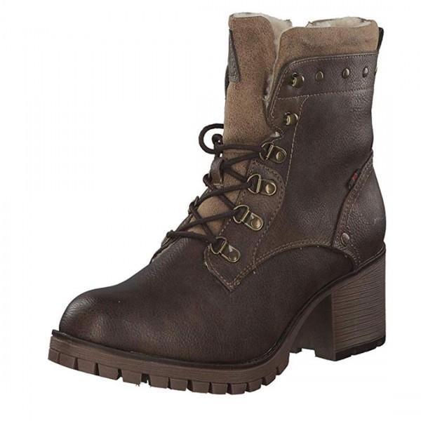 Mustang Damen Stiefel Stiefelette Schuhe Schnürstiefel braun