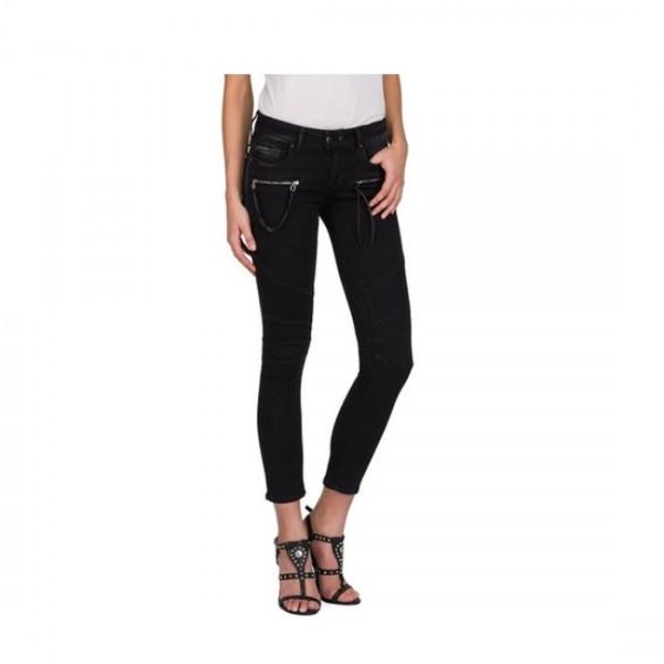 Replay Damen Biker Skinny Jeans 5 Pocket Jeanshose