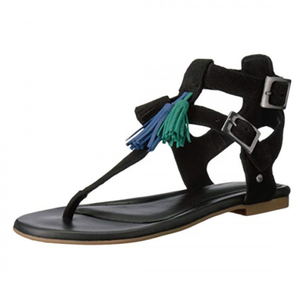 UGG® Australia Damen Sandale Sandalette Lecia Gladiator schwarz