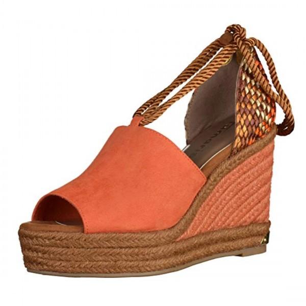 Tamaris Damen Sandalen Keilsandalen Sandaletten orange braun