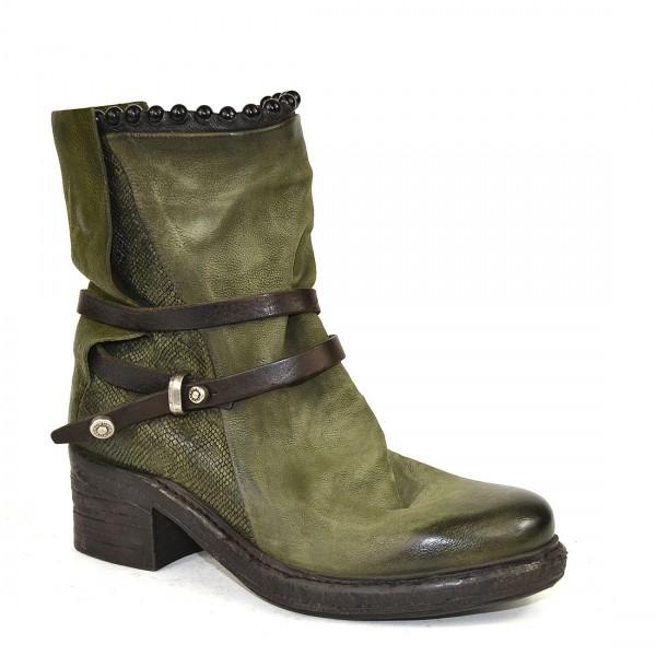 A.S.98 Airstep Stiefelette Leder Stiefel Biker Boots Damen Schuh