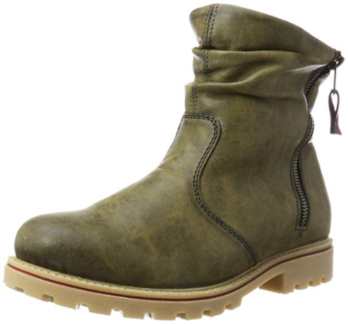 Rieker Damen Stiefel Boots Schuh Stiefeletten Schuhe olive grün