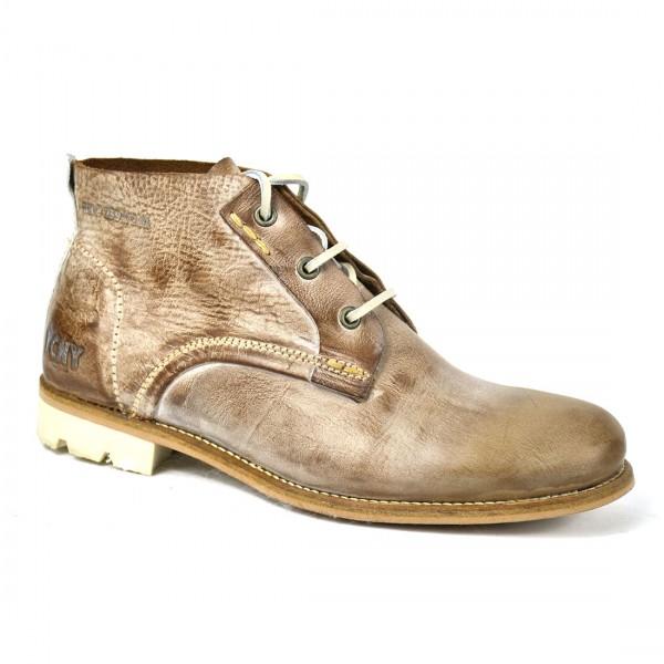 Yellow Cab Herren Staff M Braun Leder Schuhe Stiefel Boots