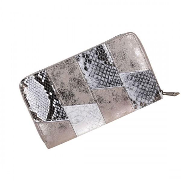 Damen Geldbörse Portmonee Brieftasche Reptilien Croco Animal