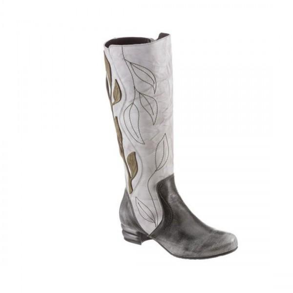 SIMEN Damen Stiefel Leder Stiefeletten Schuh Lederstiefel Boots