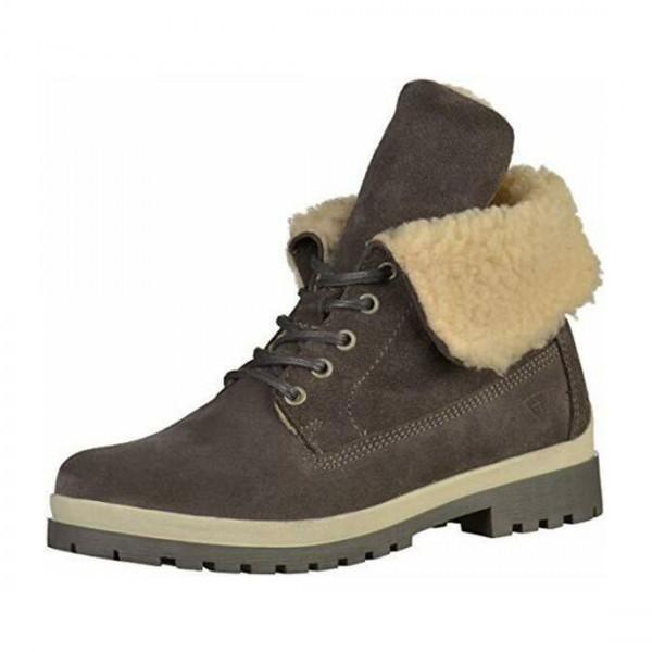 Tamaris Damen Schuhe Boots Stiefel Schuh Anthrazit Wildleder 1-26254-29