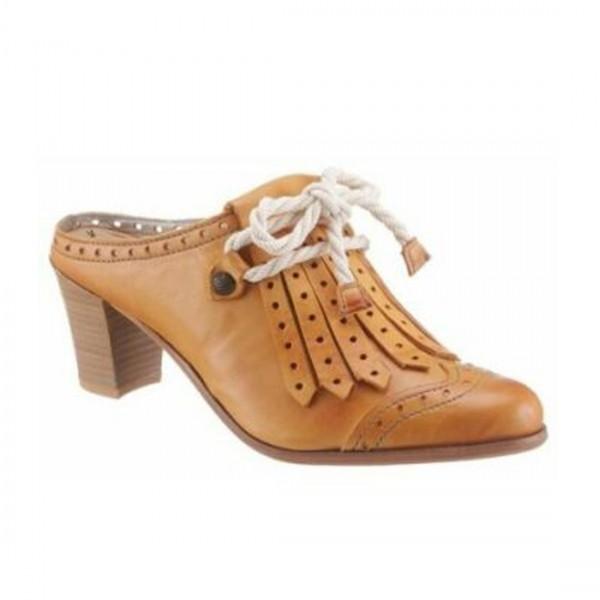 Dkode Damen Schuhe Pumps cognac offene Sabot Pumps