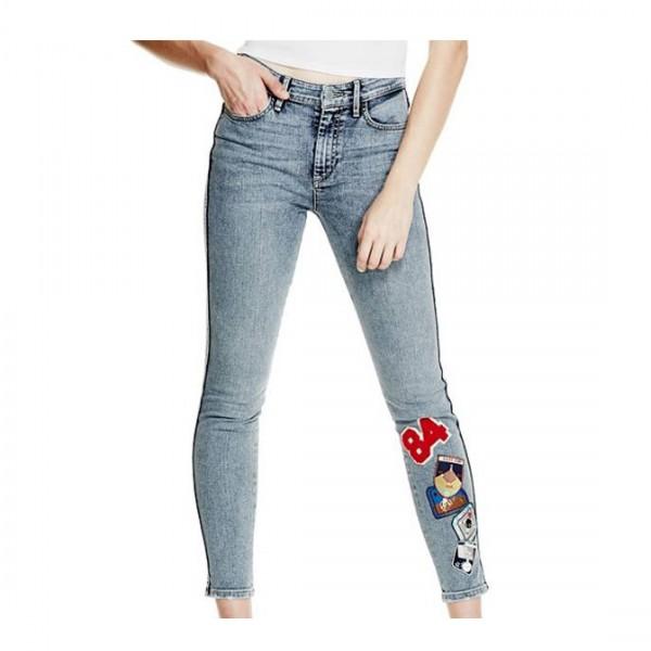 Guess Damen Jeans 1981 PATCH SKINNY JEANS