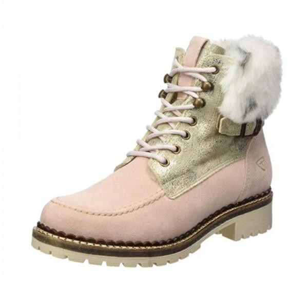 Tamaris Damen Schuhe Boots Stiefel Schuh Rosa Wildleder