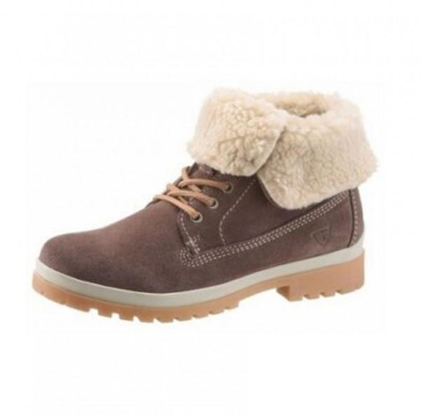 Tamaris Damen Schuhe Boots Stiefel braun gefüttert wildleder
