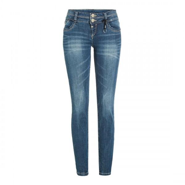 Timezone Jeans Damen Jeans Hose Slim Enya Blau