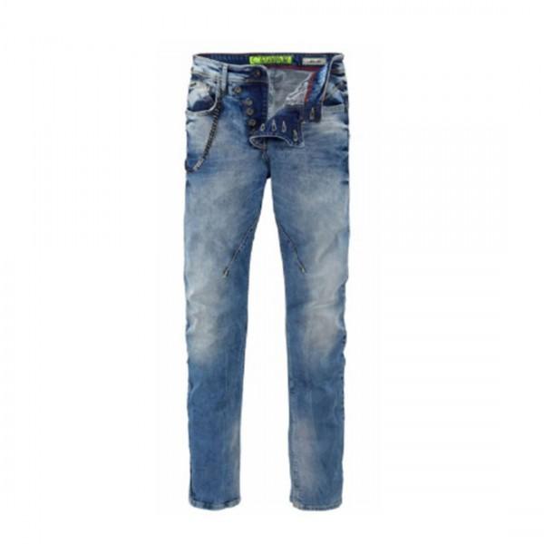 CIPO&BAXX Herren Jeans Hose CD-221 blau mit Kette