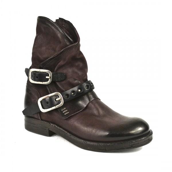 A.S.98 Airstep Damen Leder Stiefeletten Stiefel Biker Boots Schuh