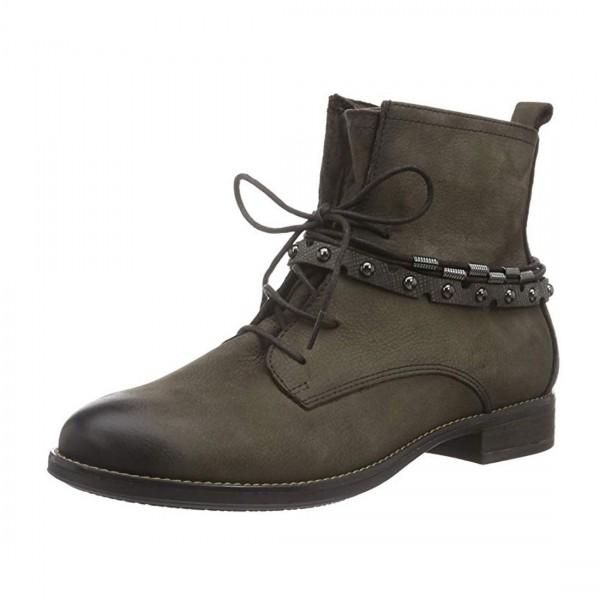 Tamaris Damen Schuhe Stiefeletten Combat Boots Stiefel Braun Taupe