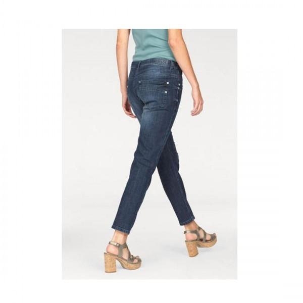 MAC Jeans Damen Stretch Jeans Sexy Carrot Blue Denim