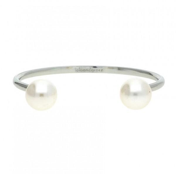 Lola & Grace Damen Armspange Armband Perlen