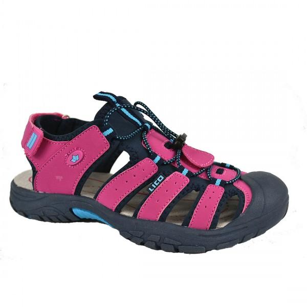 LICO Damen Mädchen Sandalen Nimbo Kinder Sandaletten Schuh Pink