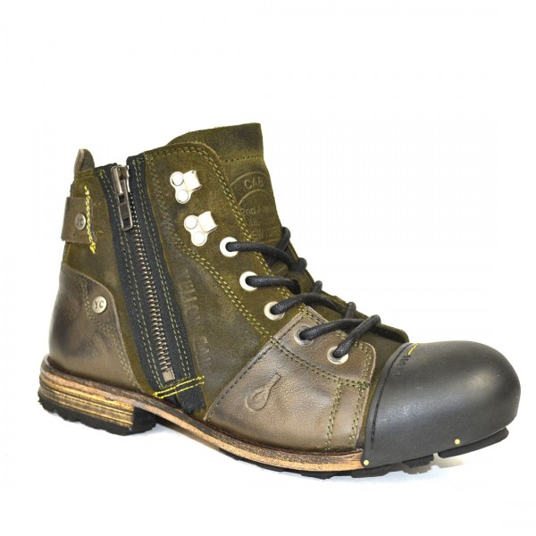Yellow Cab INDUSTRIAL M Y15419 Leder Schuhe Boots Herren Stiefel Green Olive