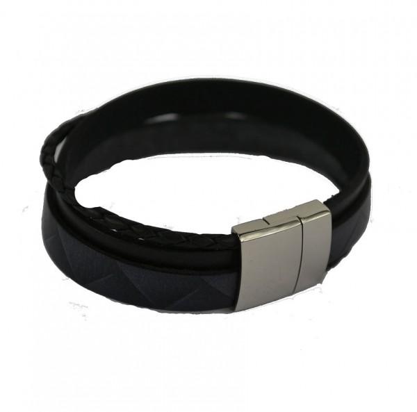Firetti Damen Armband Lederarmband schwarz