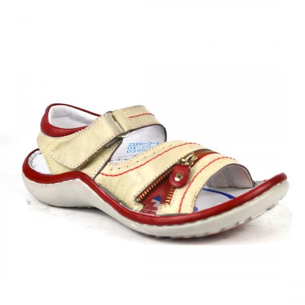 Krisbut Sandale Damen Leder Sandalen Riemchen Sandaletten