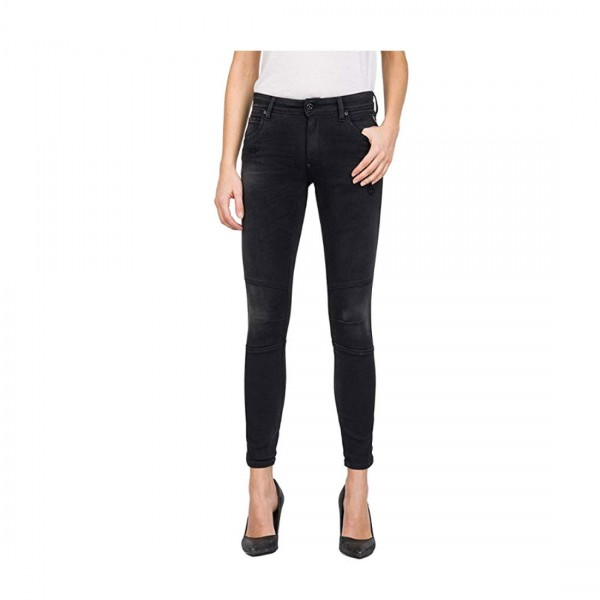 Replay Damen Jeans KAYTE Hyperflex™ Plus Skinny Fit Denim schwarz