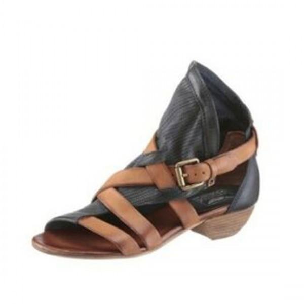 damen sandalette sandale leder arizona dunkelblau sommer