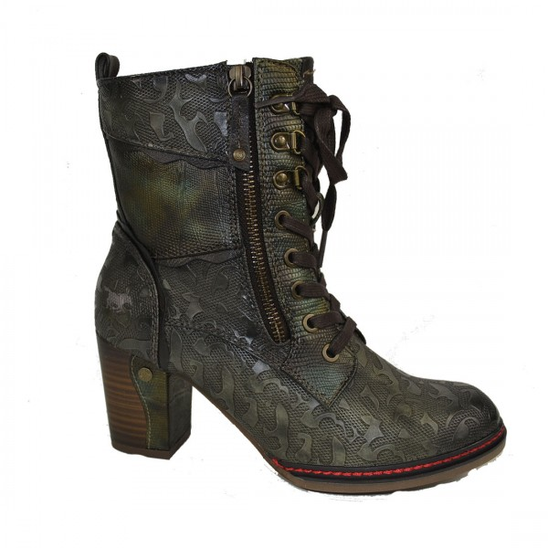 Mustang Damen Stiefelette Ankle Boots Schuh Schnürstiefel