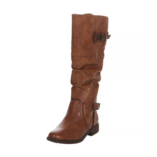 Mustang Damen Stiefel Boots hohe Stiefeletten Schuhe kastanie braun