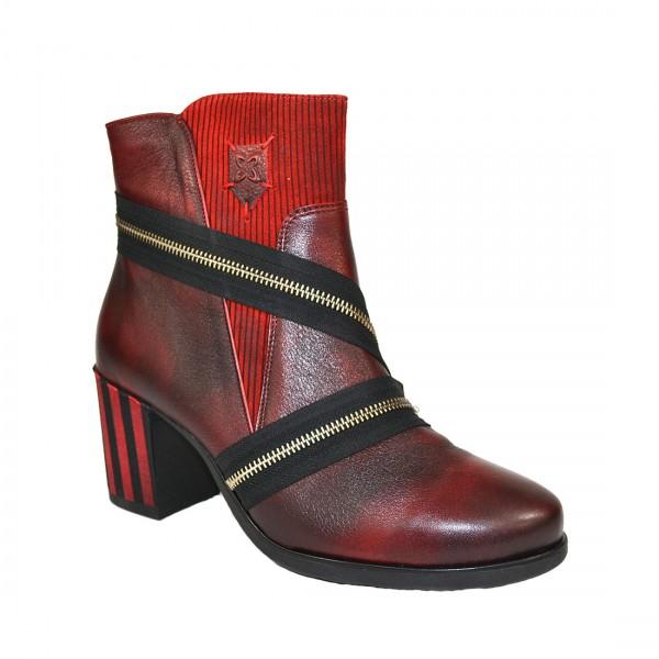 MACIEJKA Damen Leder Stiefelette Ankle Boots Stiefel Schuh