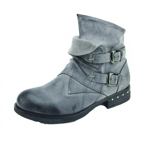 Kayla Damen Stiefelette Boots grau Schuhe leicht gefüttert