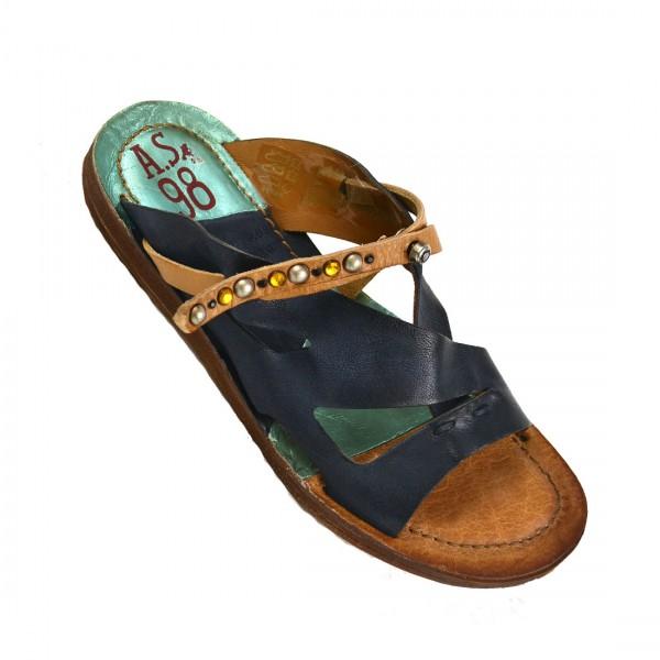 A.S.98 Airstep Damen Pantolette Leder Sandale Sandaletten Schuh