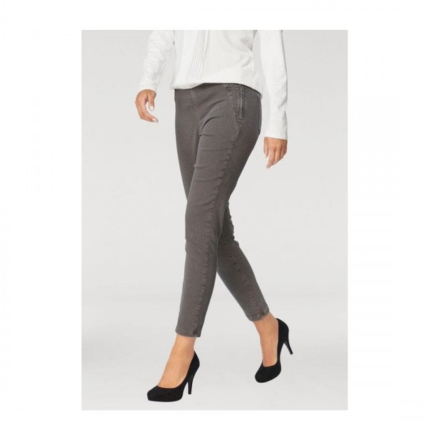 MAC Jeans Damen Dream Slim Fit Jeans Hose grau braun