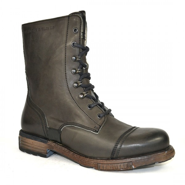 Yellow Cab UTAH 7 A Leder Stiefel Boots 7-A Herren Leather Schuh Grey
