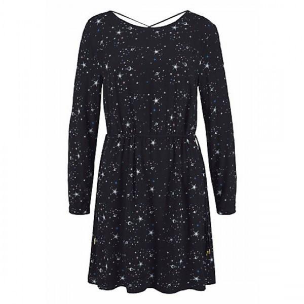 Tom Tailor Denim Damen Kleid Blusenkleid schwarz bedruckt Kleider