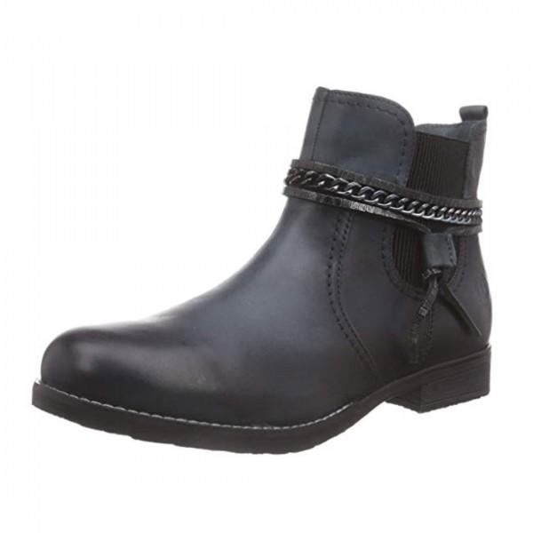 Bugatti Damen Leder Stiefeletten Chelsea Boots Stiefel