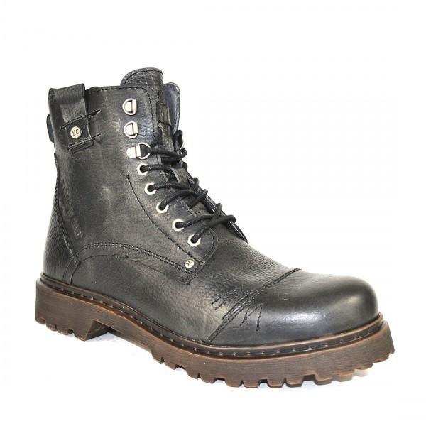 Yellow Cab Herren Stone M Y15445 Leder Stiefel Boots Schuh Black
