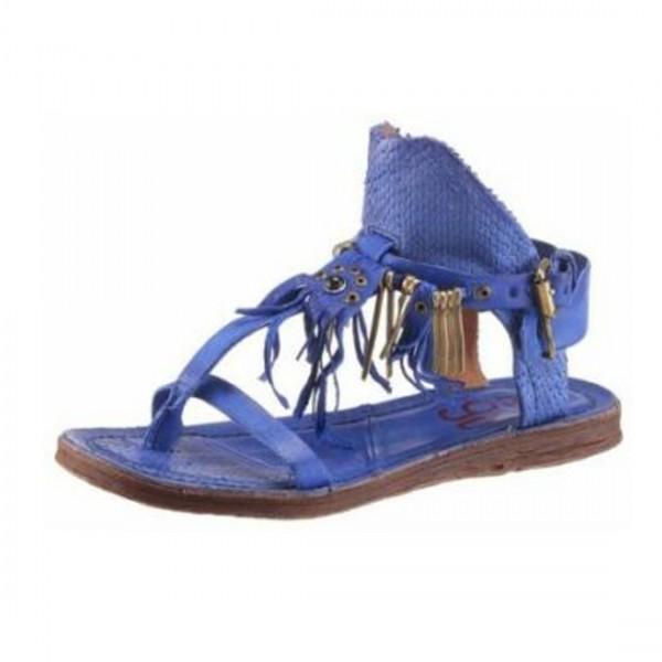 A.S.98 Airstep Damen Sandale Sandalette Schuh Sandalen Leder Blau