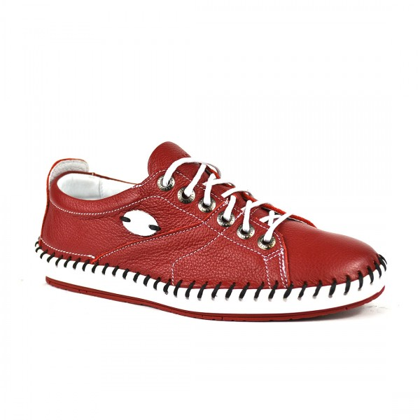 Krisbut Sneakers Damen Casual Leder Halbschuh Sneaker