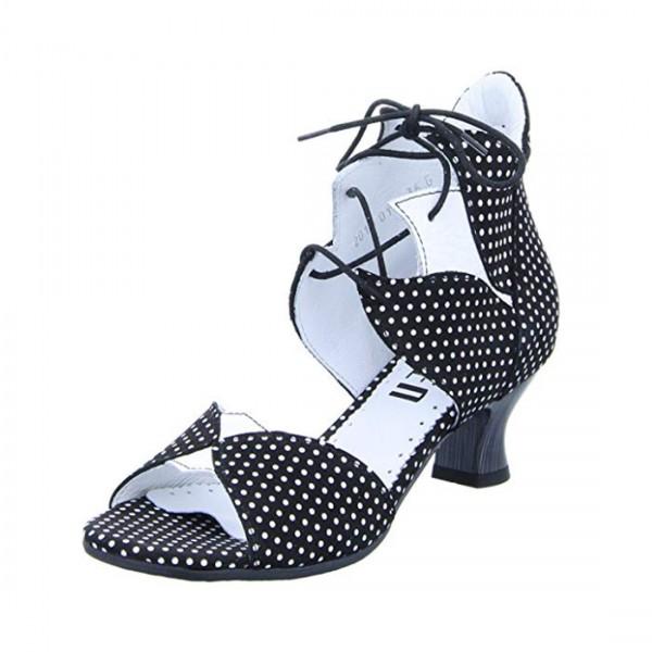 Simen Damen Schuhe Leder Sandalette Schaft Sandalen Schuh Pumps Schwarz Weiß