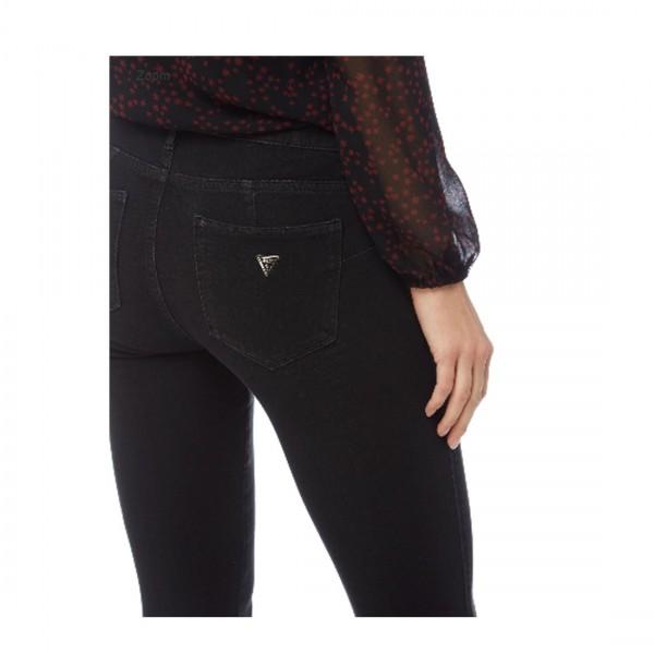 Guess Damen Curve X - Skinny Fit Coloured Jeans Schwarz