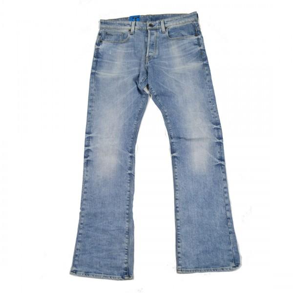 G-Star Raw Herren Hose Jeans Stretch Jeans 3301 Boot Cut Blau